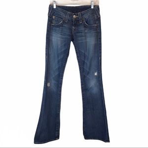 True Religion Bobby Boot Cut Jean Distressed